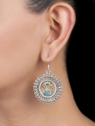 Goddess Kali Silver Earrings