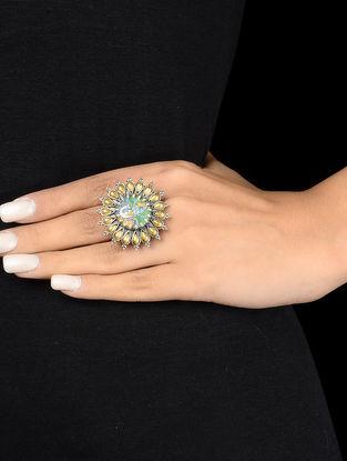 Lord Vishnu Adjustable Silver Ring
