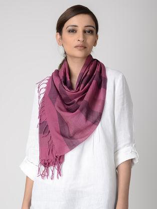 Purple-Pink Cotton Stole