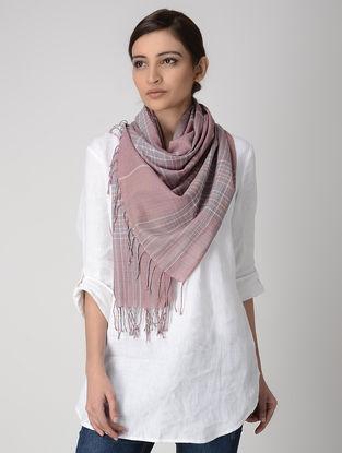 Pink-Grey Cotton Stole