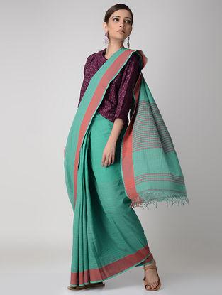 Green-Pink Cotton Saree