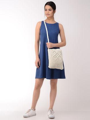 White Macrame Cotton Sling Bag
