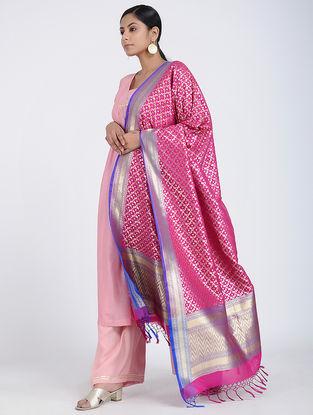 Pink Benarasi Art Silk Dupatta