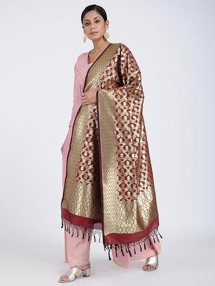 Red Benarasi Art Silk Dupatta