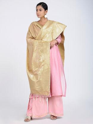 Beige Benarasi Art Silk Dupatta