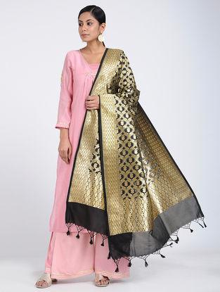 Black Benarasi Art Silk Dupatta
