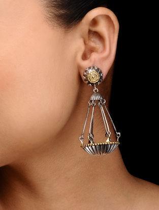 Dual Tone Brass Earrings