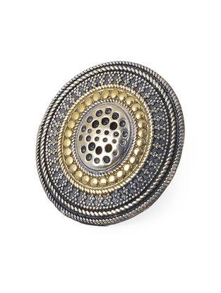 Dual Tone Brass Adjustable Ring
