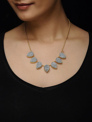 Druzy Gold-plated Brass Necklace
