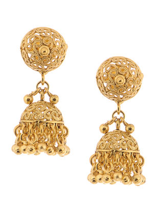 Gold Tone Copper Jhumkis