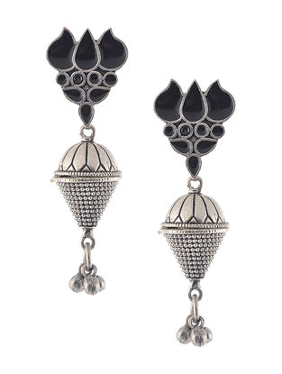 Black Enameled Jhumkis
