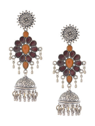 Black-Brown Enameled Jhumkis