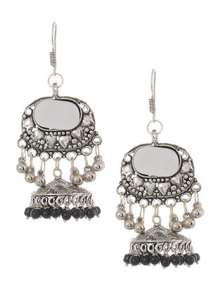Classic Beaded Mirror Earrings