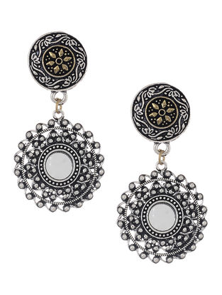 Classic Dual Tone Mirror Earrings