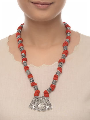 Red Thread Beaded Necklace