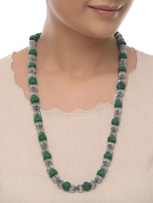 Green Thread Beaded Necklace