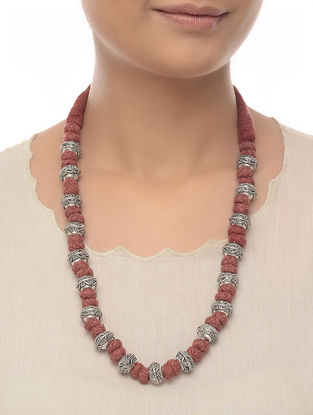 Brown Thread Beaded Necklace