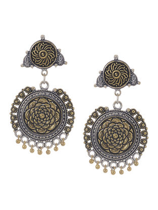 Classic Dual Tone Jhumkis with Floral Design