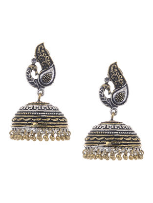 Classic Jhumkis with Peacock Design