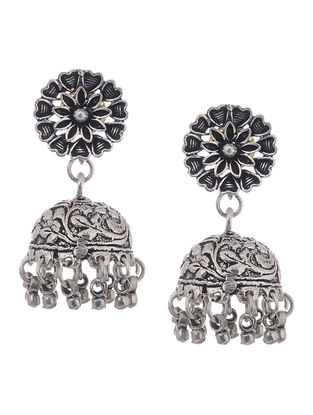 Classic Jhumkis with Floral Design