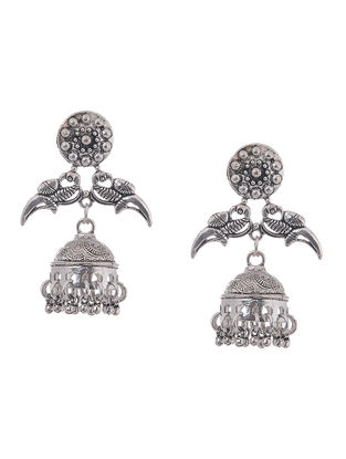 Classic Jhumkis with Bird Design