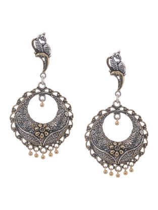 Classic Dual Tone Jhumkis with Bird Design