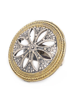 Dual Tone Brass Ring (Ring Size- 5.5)