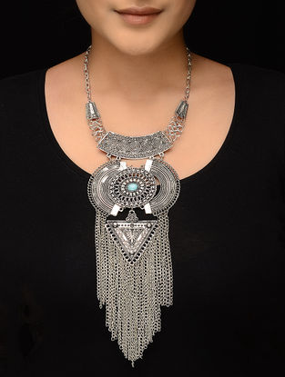 Turquoise Silver Tone Necklace