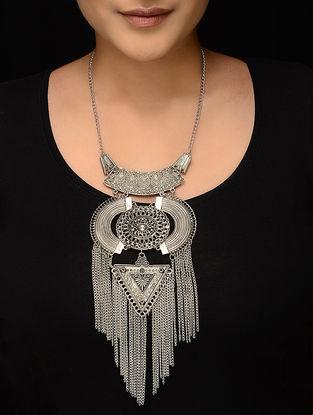 Classic Silver Tone Multi-String Necklace