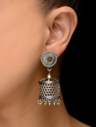 Dual Tone Brass Earrings