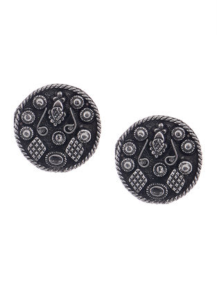 Classic Handcrafted Silver Tone Earrings