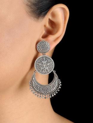 Silver Tone Brass Earrings
