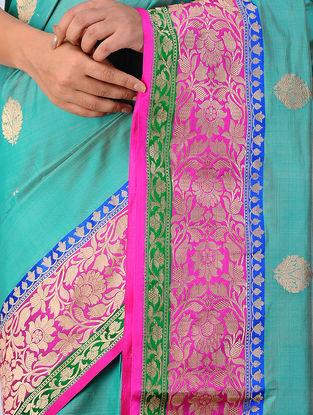Green-Pink Benarasi Silk Saree