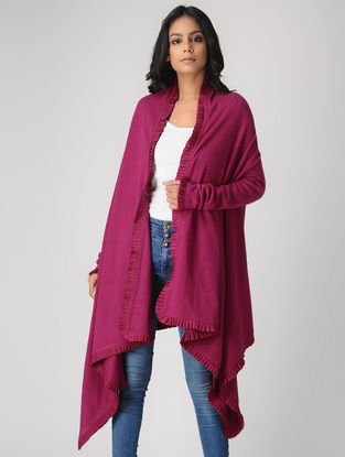 Pink Wool-Cashmere Cape
