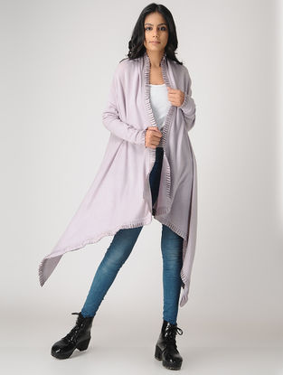 Lavender Wool-Cashmere Cape