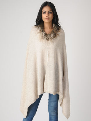 Ivory Cashmere Cape