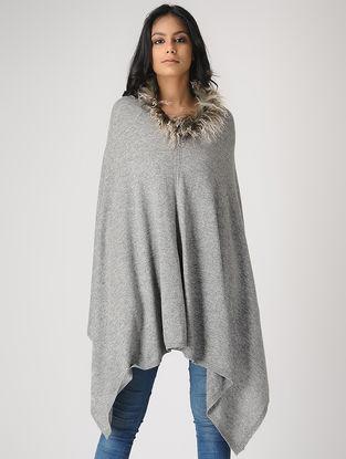 Grey Cashmere Cape