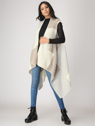 Ivory-Beige Cashmere Cape