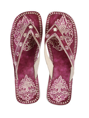 Pink Hand-painted Leather Flats