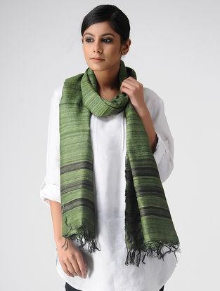 Green-Black Ghicha Silk Stole