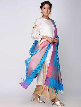 Blue-Purple Benarasi Art Silk Dupatta