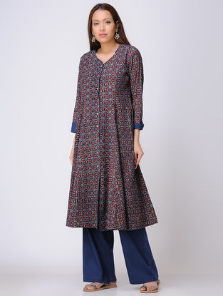 Multicolored Ajrakh-printed Cotton Kurta