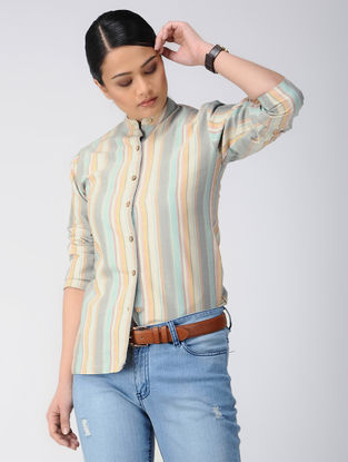Multicolor Cotton Shirt with Stripes