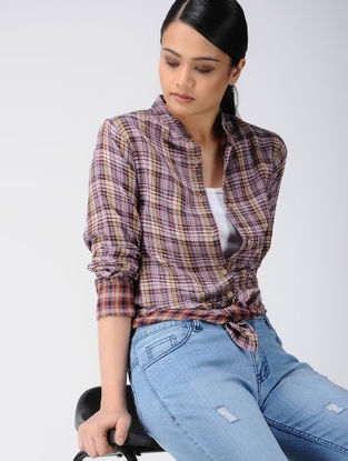 Multicolor Cotton Shirt with Checks