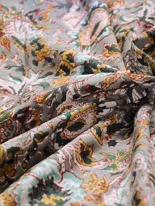 Multicolored Block-printed Gadd Cotton Fabric