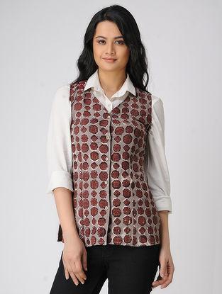 Brown Block-printed Cotton Jacket