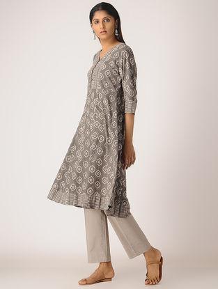 Kashish Block-printed Cotton Anarkali Kurta