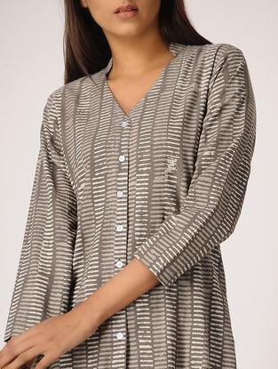 Kashish Block-printed Button-down Cotton Kurta