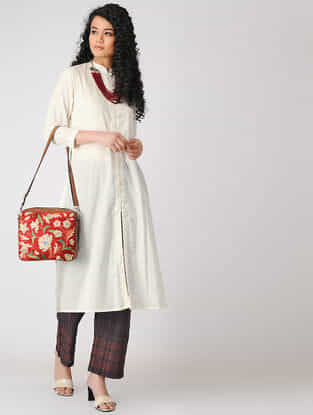 Ivory Button-down Cotton Dobby Kurta