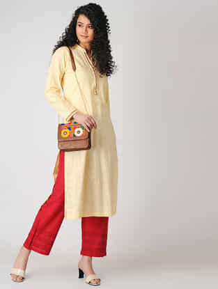 Cream Cotton Slub Kurta